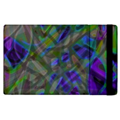 Colorful Abstract Stained Glass G301 Apple iPad 2 Flip Case
