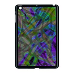 Colorful Abstract Stained Glass G301 Apple iPad Mini Case (Black)