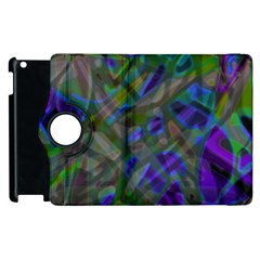 Colorful Abstract Stained Glass G301 Apple iPad 3/4 Flip 360 Case