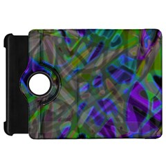 Colorful Abstract Stained Glass G301 Kindle Fire HD Flip 360 Case