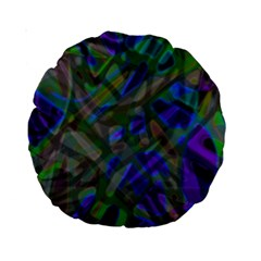 Colorful Abstract Stained Glass G301 Standard 15  Premium Round Cushions