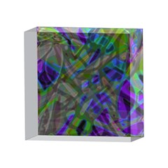 Colorful Abstract Stained Glass G301 4 x 4  Acrylic Photo Blocks