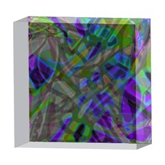 Colorful Abstract Stained Glass G301 5  x 5  Acrylic Photo Blocks