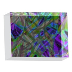 Colorful Abstract Stained Glass G301 5 x 7  Acrylic Photo Blocks