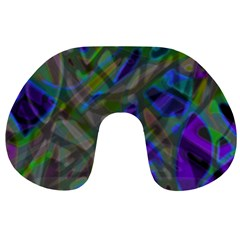Colorful Abstract Stained Glass G301 Travel Neck Pillows