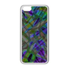 Colorful Abstract Stained Glass G301 Apple iPhone 5C Seamless Case (White)