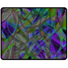 Colorful Abstract Stained Glass G301 Double Sided Fleece Blanket (medium)