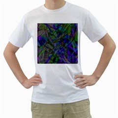 Colorful Abstract Stained Glass G301 Men s T Shirt (white)