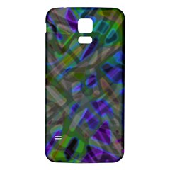 Colorful Abstract Stained Glass G301 Samsung Galaxy S5 Back Case (White)