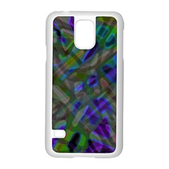 Colorful Abstract Stained Glass G301 Samsung Galaxy S5 Case (white)