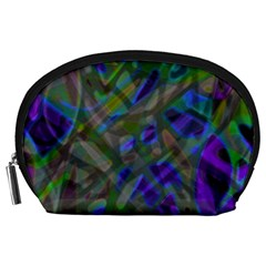 Colorful Abstract Stained Glass G301 Accessory Pouches (Large)