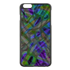 Colorful Abstract Stained Glass G301 Apple iPhone 6 Plus/6S Plus Black Enamel Case