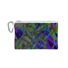 Colorful Abstract Stained Glass G301 Canvas Cosmetic Bag (S)