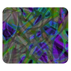 Colorful Abstract Stained Glass G301 Double Sided Flano Blanket (small)