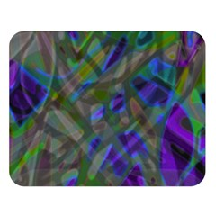 Colorful Abstract Stained Glass G301 Double Sided Flano Blanket (Large)