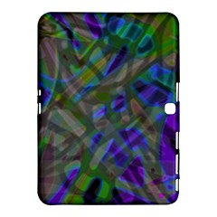 Colorful Abstract Stained Glass G301 Samsung Galaxy Tab 4 (10 1 ) Hardshell Case