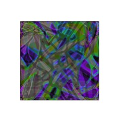 Colorful Abstract Stained Glass G301 Satin Bandana Scarf