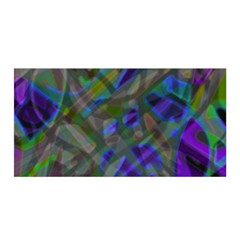 Colorful Abstract Stained Glass G301 Satin Wrap