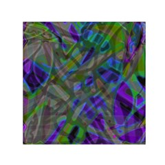 Colorful Abstract Stained Glass G301 Small Satin Scarf (Square)