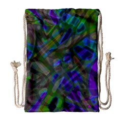 Colorful Abstract Stained Glass G301 Drawstring Bag (Large)