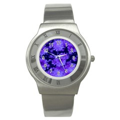 Phenomenal Blossoms Blue Stainless Steel Watches