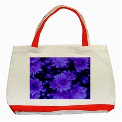 Phenomenal Blossoms Blue Classic Tote Bag (Red)