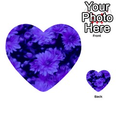 Phenomenal Blossoms Blue Multi Purpose Cards (heart)