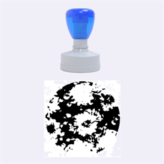 Phenomenal Blossoms Blue Rubber Round Stamps (medium)