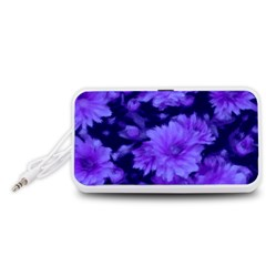 Phenomenal Blossoms Blue Portable Speaker (White)