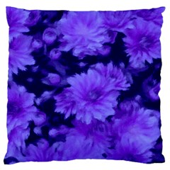 Phenomenal Blossoms Blue Large Cushion Cases (Two Sides)