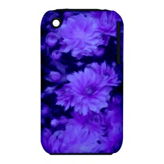 Phenomenal Blossoms Blue Apple iPhone 3G/3GS Hardshell Case (PC+Silicone)