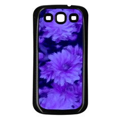 Phenomenal Blossoms Blue Samsung Galaxy S3 Back Case (Black)