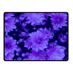 Phenomenal Blossoms Blue Double Sided Fleece Blanket (Small)