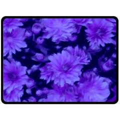 Phenomenal Blossoms Blue Double Sided Fleece Blanket (large)