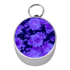 Phenomenal Blossoms Blue Mini Silver Compasses