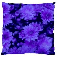 Phenomenal Blossoms Blue Large Flano Cushion Cases (two Sides)