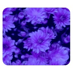 Phenomenal Blossoms Blue Double Sided Flano Blanket (Small)