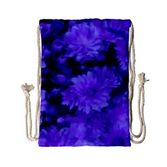 Phenomenal Blossoms Blue Drawstring Bag (Small)