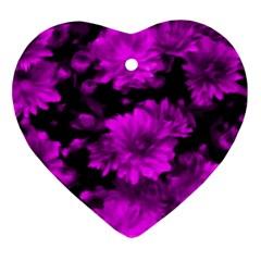 Phenomenal Blossoms Hot  Pink Ornament (Heart)