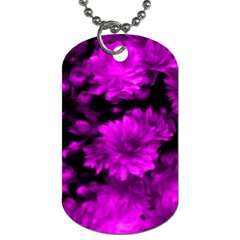 Phenomenal Blossoms Hot  Pink Dog Tag (One Side)