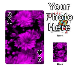 Phenomenal Blossoms Hot  Pink Playing Cards 54 Designs
