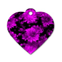 Phenomenal Blossoms Hot  Pink Dog Tag Heart (Two Sides)