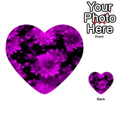 Phenomenal Blossoms Hot  Pink Multi Purpose Cards (heart)