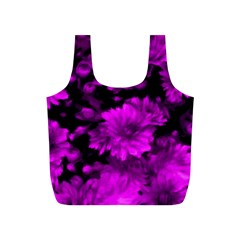 Phenomenal Blossoms Hot  Pink Full Print Recycle Bags (S)