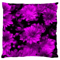 Phenomenal Blossoms Hot  Pink Standard Flano Cushion Cases (One Side)