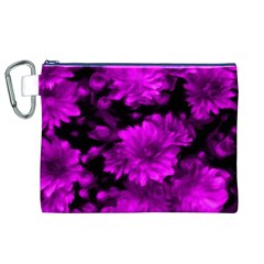 Phenomenal Blossoms Hot  Pink Canvas Cosmetic Bag (XL)