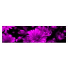 Phenomenal Blossoms Hot  Pink Satin Scarf (oblong)