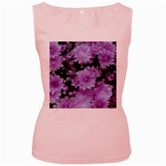 Phenomenal Blossoms Lilac Women s Pink Tank Tops