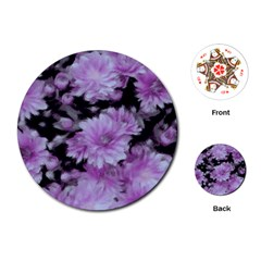 Phenomenal Blossoms Lilac Playing Cards (Round)