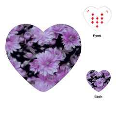 Phenomenal Blossoms Lilac Playing Cards (Heart)